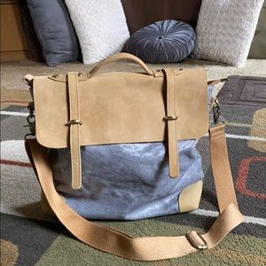 Anthropologie Jesslyn Blake Leather/Canvas bag🌾